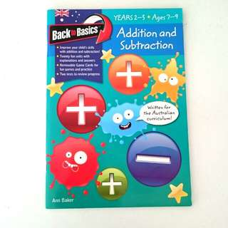 Maths - Addition and Subtraction Workbook
