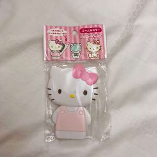 Hello Kitty Handheld Mirror and Comb