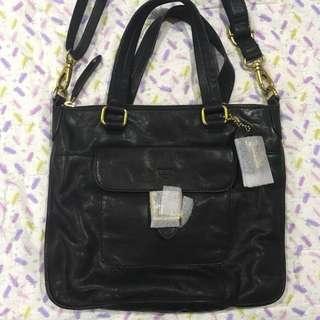 Fossil Becca Leather Satchel Handbag