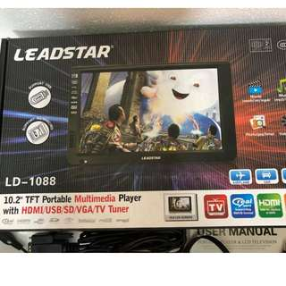 Recharging portable Led tv 10.1 inces full box