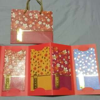 Chinese New Year Red Packet Set with Paper Bag, Ezlink Card