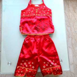 CNY Costume for 2 to 4 years old (Top & pants)