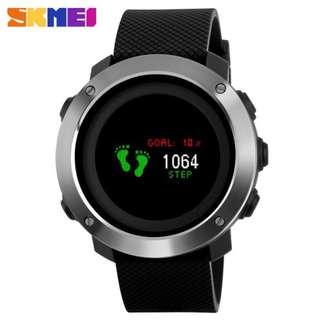 彩屏 多功能智能手錶 運動計步指南針時尚電子錶