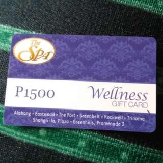 The SPA Gift card