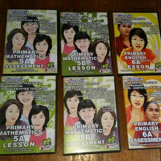 MyHomeTutor DVDs Primary 5 and 6 sets for PSLE PREPERATION!
