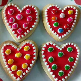 Valentine Cookies 12 pcs in a box (medium sized cookies)