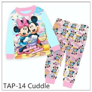 Minnie and Mickey Long sleeve Pajamas Tap14