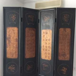 Chinese foldable panel