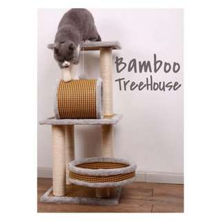 [BN] Bamboo Cat TreeHouse