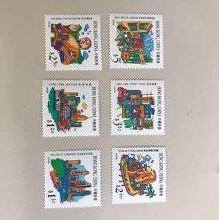 香港和新加坡聯合發行郵票