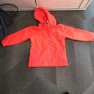 Unisex fleeced lined hooded jacket / windbreaker for toddler girl or boy (92 cm)