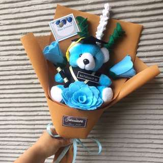 Buket teddy graduations