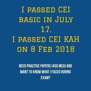 CEI Mock paper