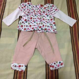 Baby girl 2 part set clothes