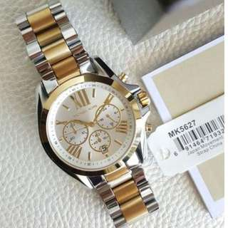 Michael Kors Bradshaw Chronograph Large Two - tone Silver and Gold 43mm, MK5627