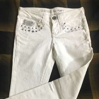 CNY Sale - Guess Girls White Jeans