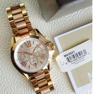 Michael Kors Bradshaw Chronograph Large Two - tone Gold and Rose Gold 43mm, MK5651
