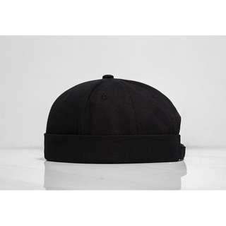 四色 黑/卡其色/淺藍/深藍 水兵帽  #無檐地主帽/貝雷帽/圓頂帽/南瓜帽/瓜皮帽/流氓帽