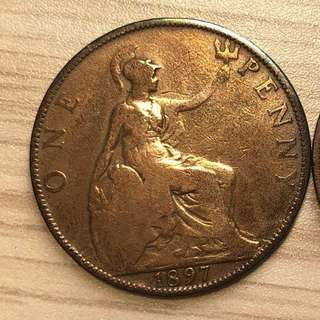 1897 Queen Victoria One Penny