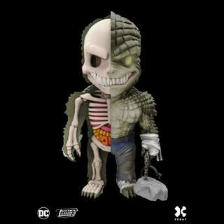 """Jason Freeny's Mighty Jaxx XXRAY DC Comics Vinyl 4"""" Killer Croc"""