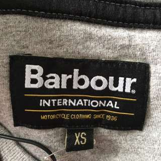 New Barbour International Logo Tee Men XS - Grey