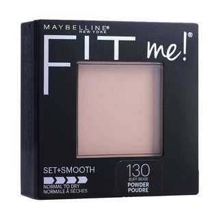 Maybelline Fit Me Pressed Powder Set + Smooth no 130 Buff Beige