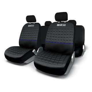 Sparco Seat Covers SPC1042AZ (Black/Blue)