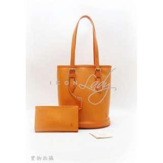 LV M5899H 橙色 Epi 皮革 購物袋 水桶形手袋