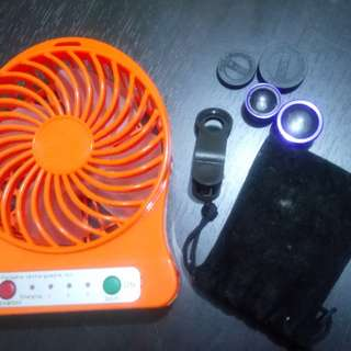 Clip lens + mini-fan