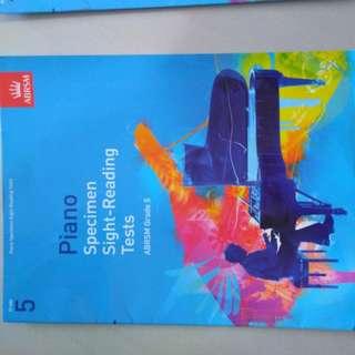 Grade 1 and 5 ABRSM exam books
