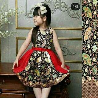 Dress cia-cia batik