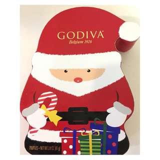 GODIVA聖誕老人巧克力禮盒/4顆