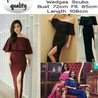 BC, MIXCO DRESS Colour : Hitam, Blue, Maroon, Pink Bahan Scuba tebal Good quality