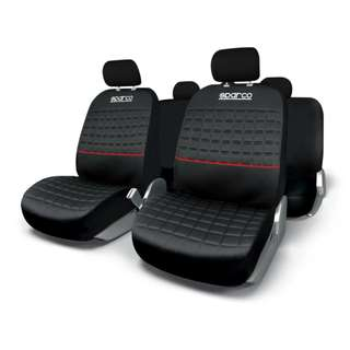 Sparco Seat Covers SPC1042RS (Black/Red)