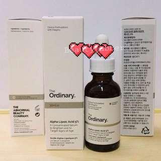 Ready stock The Ordinary Alpha Lipoic Acid