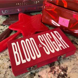 PREORDER : Jeffree Star Cosmetics Blood Sugar Palette And Love Sick Collection