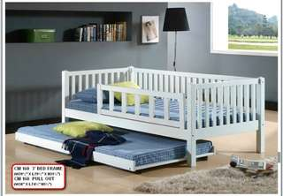single 3'bed frame with pull out model - 160