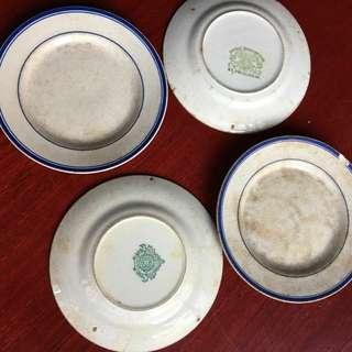 五十年前古老陶瓷碟!每隻!