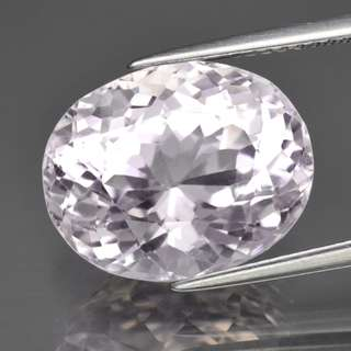9.82ct Oval Natural Very Light Pink Kunzite
