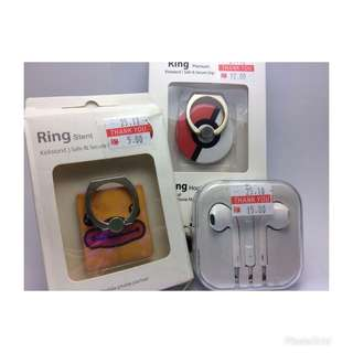 Earphone and Ring