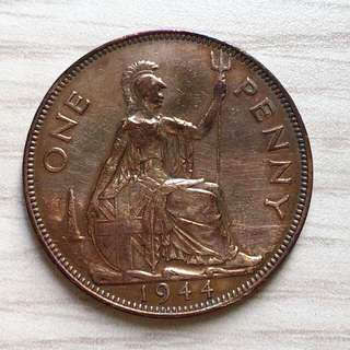 1944 King George VI One Penny