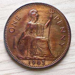1963 Queen Elizabeth II One Penny