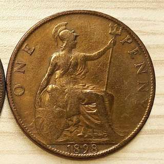 1898 Queen Victoria One Penny