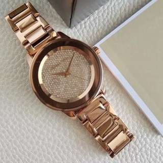 Michael Kors Pave Crystal Midsize Rose Gold 41mm, MK6210