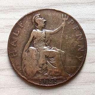 1922 King George V Half Penny