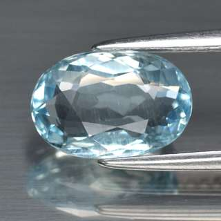 1.79ct Oval Natural Blue Aquamarine, Brazil
