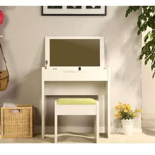 3-in-1 Vanity Table/Desk/Storage with Chair