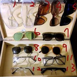 (sayhi) 眼鏡控看這邊!! 眼鏡/墨鏡便宜出售 150元內讓您買到特色鏡框~
