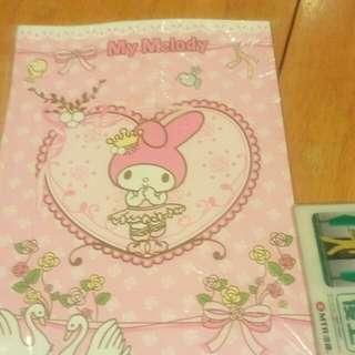全新 Sanrioo My Melody 簿 writing book