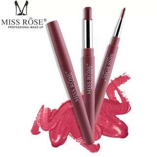 MISS ROSE Double-end Lasting Lipliner Waterproof Lip Liner Stick Pencil 8 Color Levert Dropship NO10